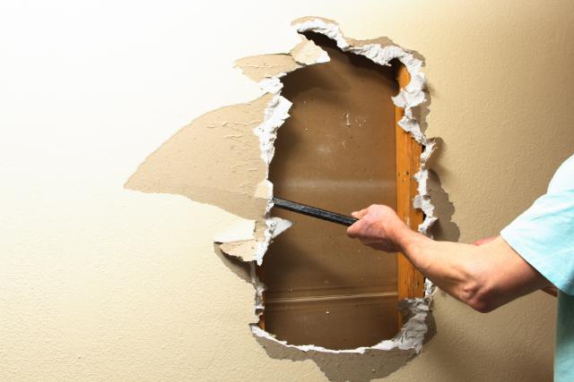 Drywall Repair work of a damaged wall
